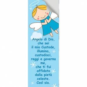 Vetrofania Angelo di Dio azzurro 10,5X30 cm s2