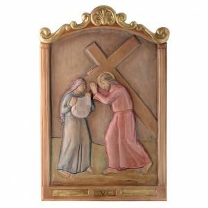 Via Crucis 15 Stazioni in rilievo legno colorato s6