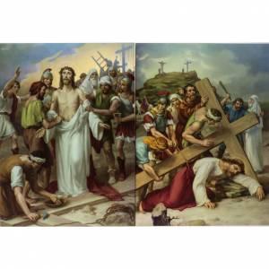 Via Crucis 15 stazioni stampa legno s7