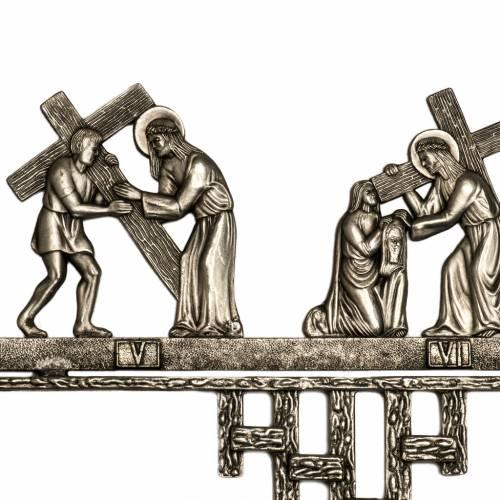 Vía Crucis latón 2 piezas 14 estaciones s3