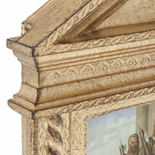 Via Crucis madera con espiral a punta XV estaciones s6