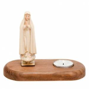 Support bougies: Vierge de Fatima avec lampe votive