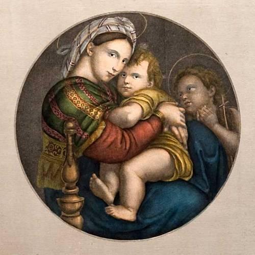 Vierge de la chaise, impression d'origine florentine s3