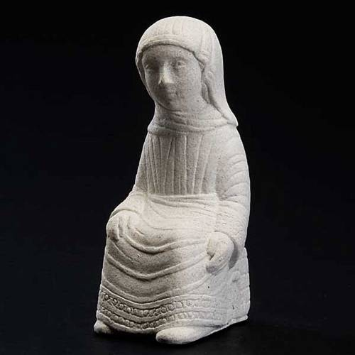 Vierge Marie Crèche d'Automne pierre blanche s2