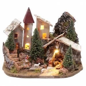 Capanne Presepe e Grotte: Villaggio nordico per presepe 20x25x20 cm