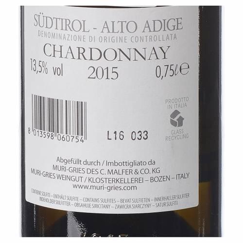 Vino Chardonny DOC 2015 Abadía Muri Gries 750 ml s2