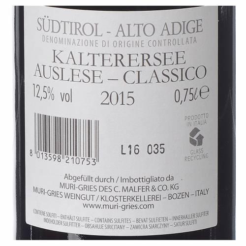 Vino Lago di Caldaro scelto DOC 2015 Abbazia Muri Gries 750 ml s2