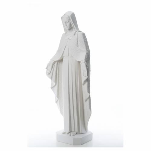Virgen brazos abiertos 110cm de mármol blanco s2
