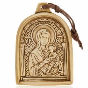 Virgen con el Niño bajorrelieve de piedra para colgar s1