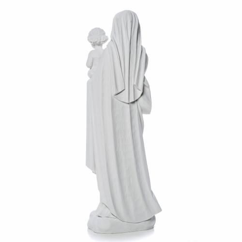 Virgen con el niño de 60cm mármol sintético s4