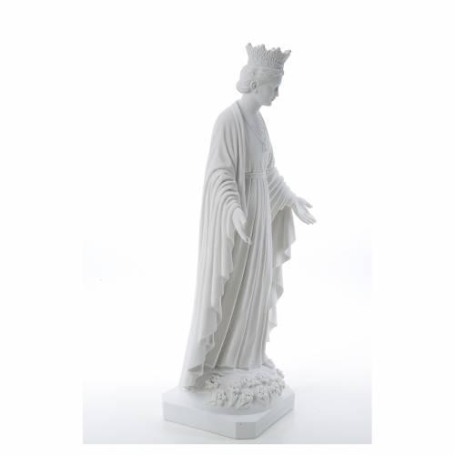 Virgen de la Pureza de mármol sintético 70 cm s4