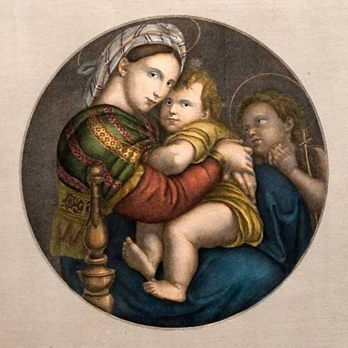 Virgen de la silla estampa florentina s3