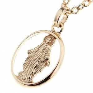 Virgen Milagrosa collar oro 750/00 - gr 1,30 s1
