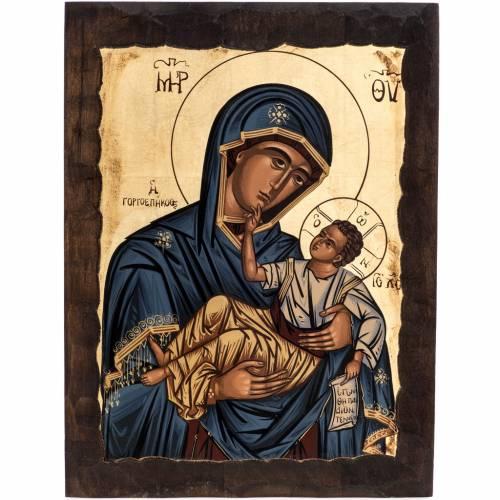 Virgin Mary Eleusa icon, Greece, silkscreen printing s1