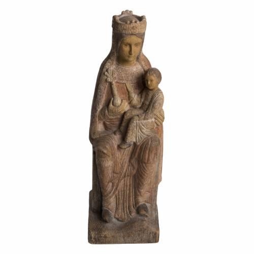 Virgin of Solsona statue in painted Bethléem wood, antique fini s1