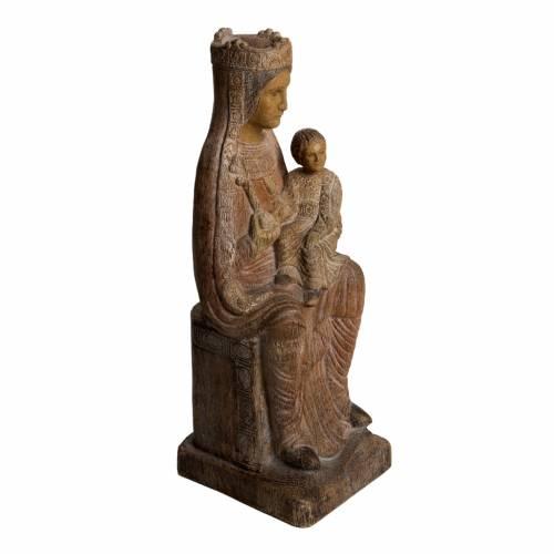 Virgin of Solsona statue in painted Bethléem wood, antique fini s2