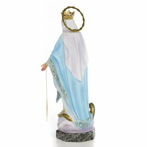 Virgin of the miraculous medal wooden paste 40cm, fine finish s3