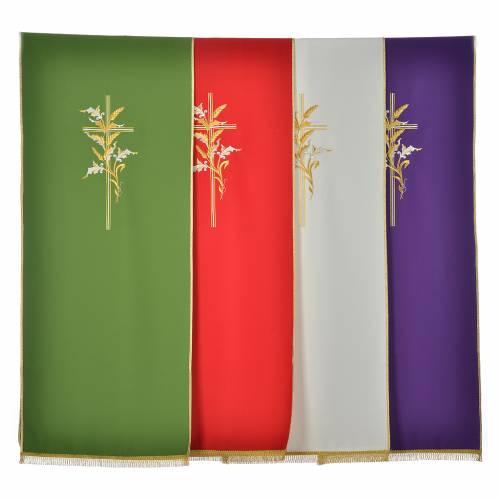 Voile de lutrin croix épis en tissu de polyester s1