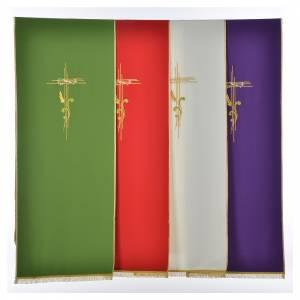 Voile de lutrin croix stylisée épis tressés s1