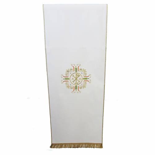 Voile de lutrin croix symbole Chi-Rho Alpha et Oméga s1