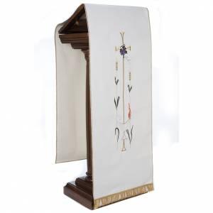 Voile de lutrin lampe épis raisins couleurs liturgiques s5