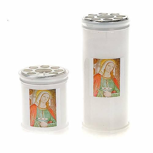 Votive candle with Saint Lucy image s1