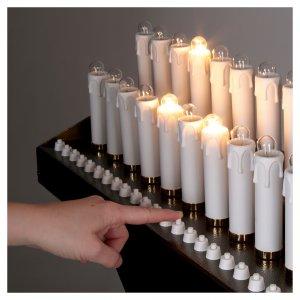 Votivo elettrico 31 candele a 24Vcc pulsanti lampadine s5