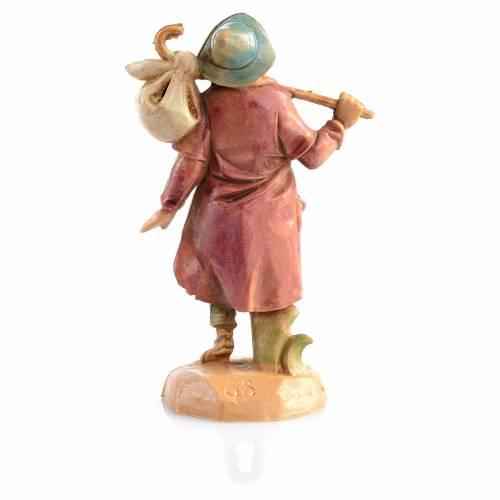 Voyageur avec fagot crèche 6,5 cm Fontanini s2