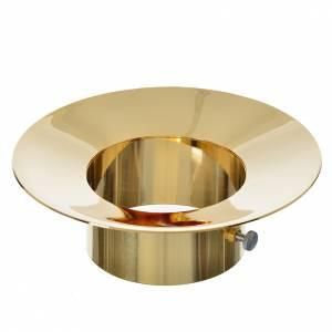Kerzen: Wachsteller für Osterkerze aus Messing, Durchmesser 8cm