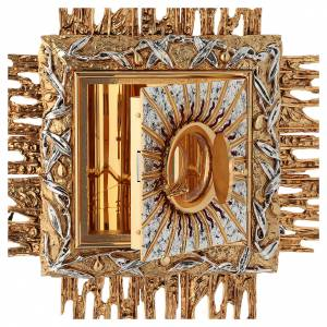 Wall tabernacle bicolor brass, JHS symbol s5