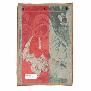 Wandteppiche: Wandteppich Ikone Gottesmutter mit King 65x45cm