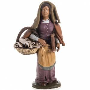 Krippe aus Terrakotta: Waschfrau Terrakotta Deruta 18 cm