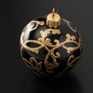 Tannenbaumkugeln: Weihnachtskugel Baum schwarz goldene Dekorationen 6 cm