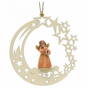 Christbaumschmuck aus Holz und PVC: Weihnachtsschmuck Engel mit Buch