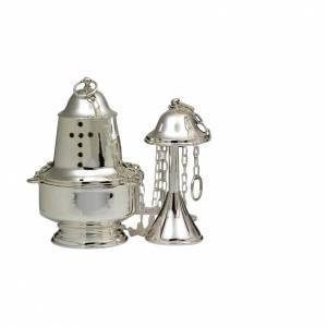 Weihrauchfässer, Weihrauchschiffchen: Weihrauchfass und Schiffchen modern Design Silber 800