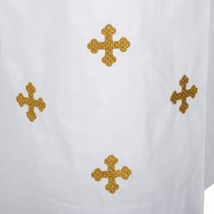 Albs: White alb cotton cross motif