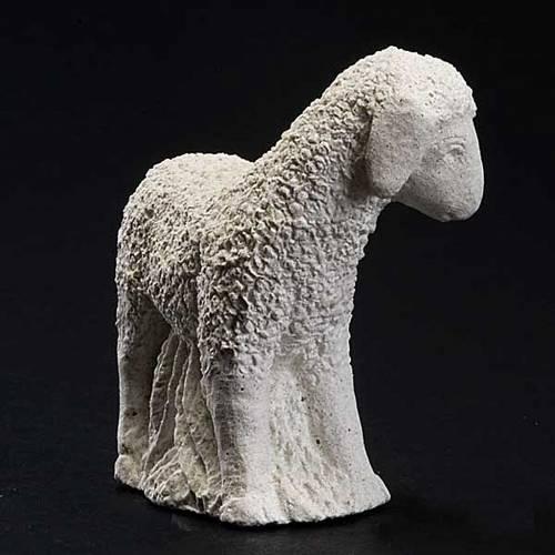 White sheep for Autumn crib Natural stone s2
