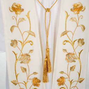 Stoles: White stole gold flowers