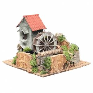 Watermills and windmills: Wind mill for nativities in terracotta measuring 20x25x25cm