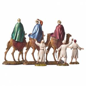 Wise men and camels nativity figurines 6 pieces, 10cm Moranduzzo s5