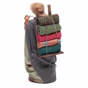 Woman carrying fabrics, figurine for Neapolitan Nativity, 14cm s3