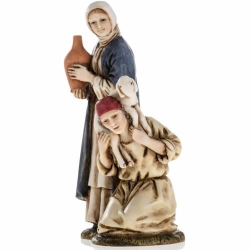 Woman with amphora and kneeling shepherd Moranduzzo 11cm s2