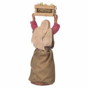 Woman with box of chicks, Neapolitan Nativity 12cm s2