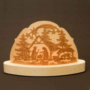 Wood candle-holder with crib s3