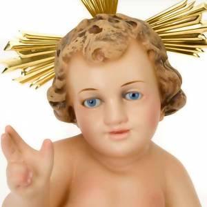 Baby Jesus figurines: Wooden Baby Jesus with golden dress