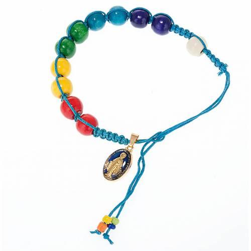 Wooden beads rope bracelet s4