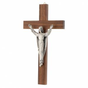 Wooden crucifixes: Wooden crucifix with risen Christ in metal