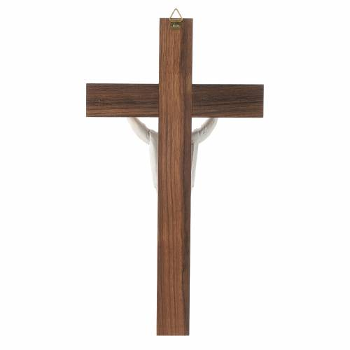 Wooden crucifix with risen Christ in metal s4