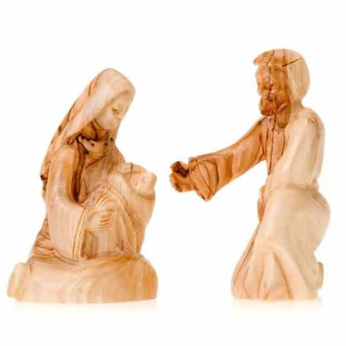 Wooden nativity of Bethleem, 12cm s3