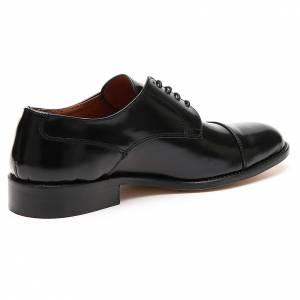 Zapatos de cuero abrasivado negro punta cortada s3